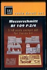 SBS Models 1/48 MESSERSCHMITT Bf-109F-2/4 COCKPIT SET RESIN & PE CONVERSION KIT