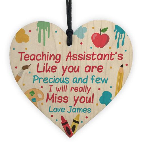 Personalised Thank you Teaching Assistant Gift Poem School Nursery Leaving Gift