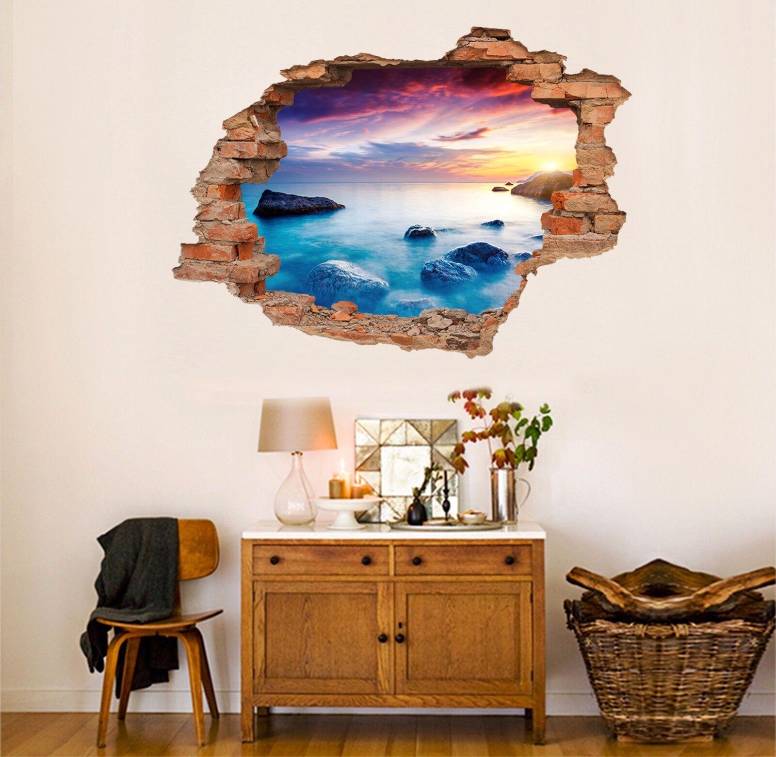 3D Stein Ozean 765  Mauer Murals Mauer Aufklebe Decal Durchbruch AJ WALLPAPER DE
