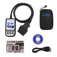 Creator C110 BMW ABS SRS Auto Diagnostic Fault Trouble Code Scanner Reader V3.9