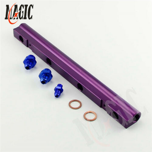 Aluminum High Flow Injector Fuel Rail kit for Audi VW 1.8L Turbo 20V Purple