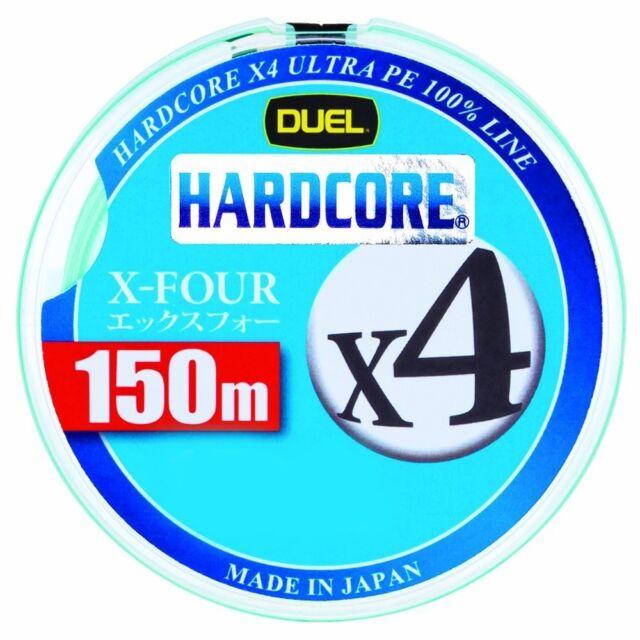 ** DUEL HARDCORE X4 Micro Pitch 4 Braided PE Line 150m White