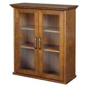 Etonnant Details About Bathroom Medicine Cabinet Wall Hanging Storage Cupboard 2  Shelves Wood Glass Oak