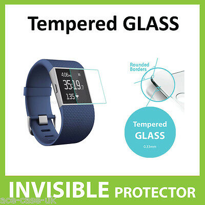 Fitbit Surge Protector de Pantalla de Vidrio Templado escudo arañazos prueba de 9H