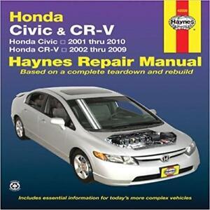 haynes honda civic 01 10 dx vp ex l se lx si owners repair manual rh ebay ie 2006 honda civic lx repair manual 2003 honda civic lx repair manual