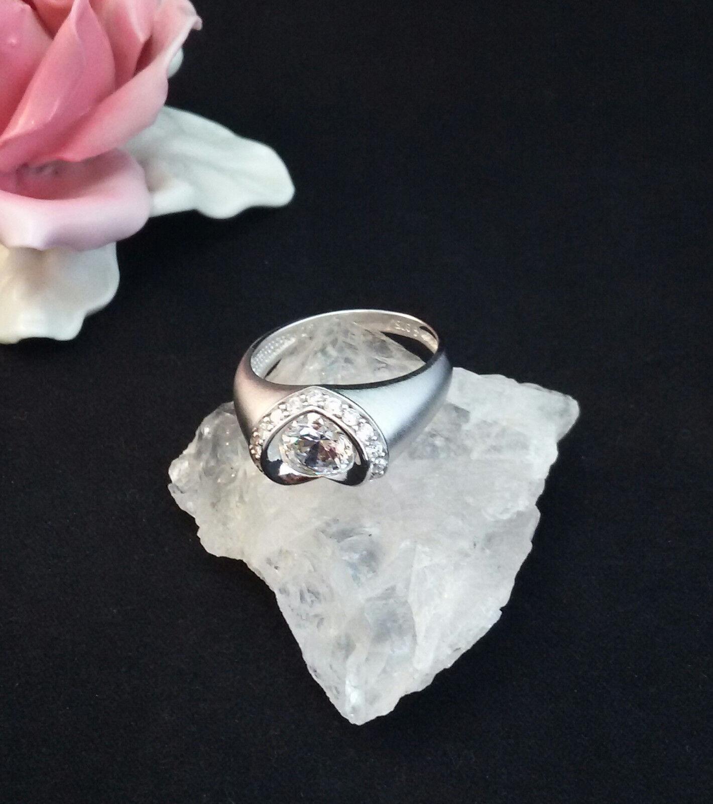 Ring silver 925 Rodiniert Zirkonia 60 (19,1 mm Ø)