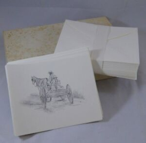 Vintage-Amish-Theme-Note-Cards-22ct-Going-to-the-Mill-by-Robert-Carafelli-Ohio