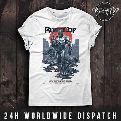 RoboCop Poster T Shirt Cyberpunk Police OCP Cyborg Retro Movie