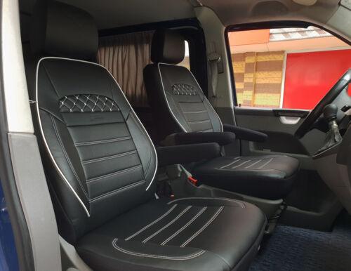 VW T5 T6 California Beach Coast Sitzbezüge Schonbezüge Kunstleder schwarz weiß
