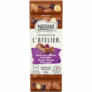 Nestle-Les-Recettes-de-l-039-Atelier-Raisins-Almonds-amp-Hazelnuts-Milk-Chocolate-Bar