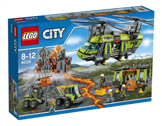 Lego 60125 L'Helikopter Transport des Vulkans Lego City 100% Neuf New