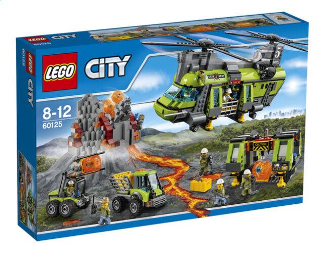 LEGO 60125 L'hélicoptère de transport du volcan LEGO CITY ++ 100% NEUF NEW ++