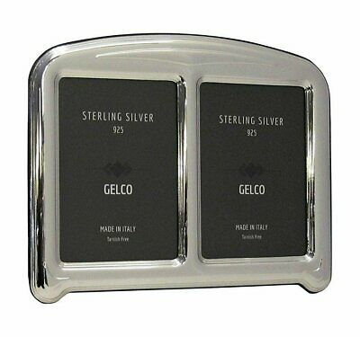 Gelco Italian 925 Sterling Silver Hand Embossed Daisy Picture Frame