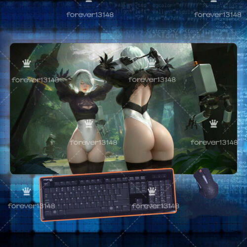 2 Type B Keyboard GAME Mouse Pad Table Mat 70*40cm Anime Nier Automata Yorha No