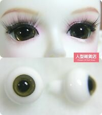 14mm  For BJD DOD AOD MK OK RD Doll Dollfie Glass Eyes Outfit Yellow brown