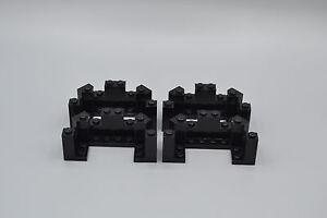 LEGO-4-x-Mauerteil-4x8x2-Ecke-Zinnen-Turm-Burg-schwarz-black-balcony-6066