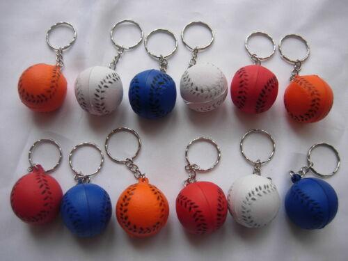 12 ball Keyring Party Loot Bag Fillers