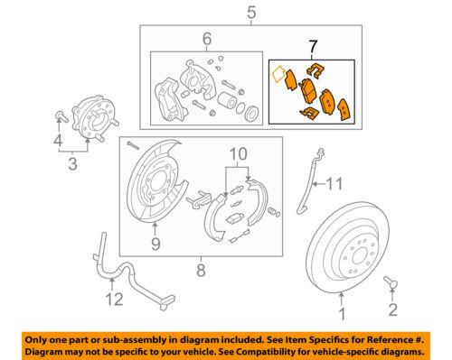 HYUNDAI OEM 11-15 Genesis Brake-Rear Pads 583023MA30