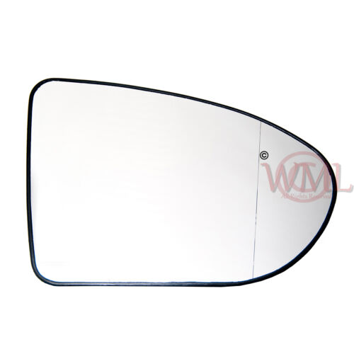 para Nissan Qashqai 2006 /> 2013 Vidrio Espejo Puerta Plata Asférico Calefactado /& Base derecha