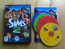 The Sims 2 PC CD ROM base game 4-disc for Windows