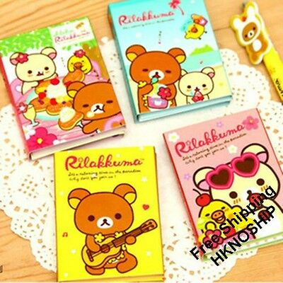 San-X Rilakkuma 4 Fold Sticky Notes Sticker Bookmarker Memo Pad
