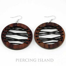 Ohrringe Handarbeit Goa Design Holz Wood Earrings Schmuck ER196