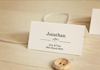 40 Personalised Wedding Place Card Table Names Invitation (4 different Designs)