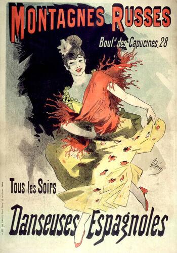 Vintage style Art Nouveau Français Shabby Chic Prints & Posters 125... A1, A2, A3, A4 Tailles