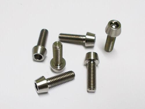 Grade 5 Titanium m5x16mm Taper Head Screws