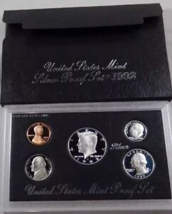 1992-S-U-S-Mint-Silver-Proof-Set-with-Original-Box-and-COA-5-Coins-NEW