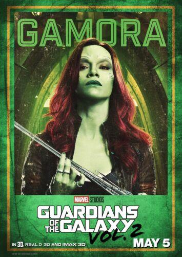 Guardians of the Galaxy Vol 2 Movie Poster 24x36 Zoe Saldana v6 - Gamora