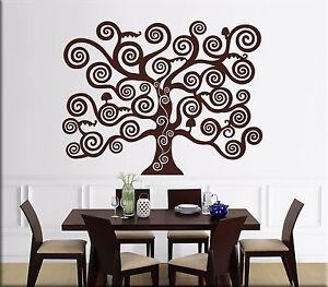 Decorazioni Per Pareti Adesive.Dettagli Su Adesivi Murali Albero Della Vita Di Klimt Decorazione Parete Wall Sticker Ws1316