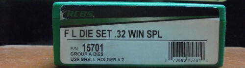 Brand New RCBS 32 Win Spl Reload Hand Loading Die Set Free Shipping 15701