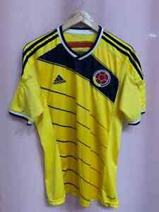 COLOMBIA NATIONAL TEAM 2014/2015 HOME FOOTBALL SHIRT JERSEY SIZE M ADIDAS