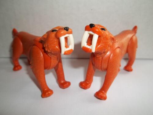 Playmobil,SABRE-TOOTHED CATS,TIGERS,LOT OF 2,Item # J19
