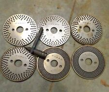 Nos 1 6 Indexing Plates 2 Bolt With Spring Arm 4 Dividing Head Rotary Table