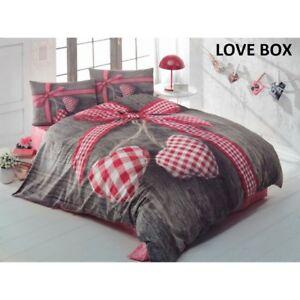 3d Bettwäsche Set Baumwolle Renforce Bettbezug Bettlaken Kissenbezug Box Nina