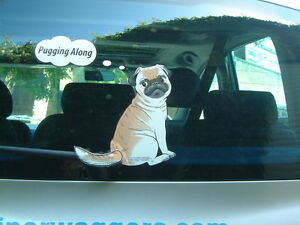 PUG-DOG-LOVER-CAR-STICKER-NOVELTY-GIFT-COLLECTABLE-WITH-WIPER-WAGGING-TAIL