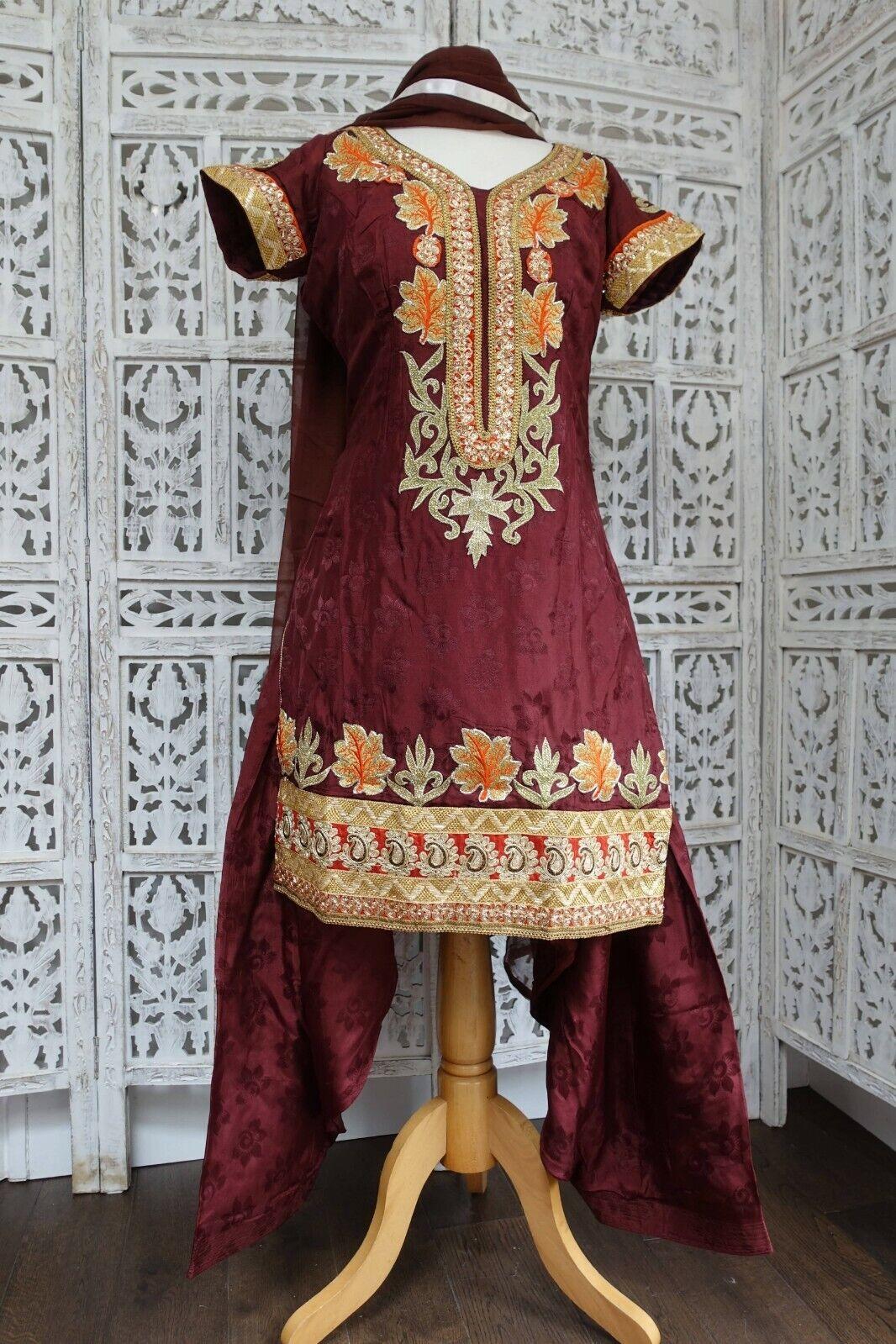 Brown Bollywood Indian salwar kameez UK Size 12 / EU 38 - SKU16350