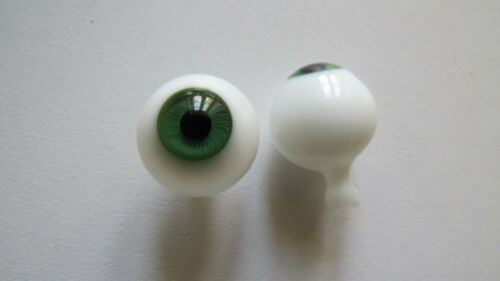 Yeux  poupée ancienne Vert  20mm  Green mouth blown eyes for antique doll