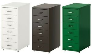 colored file cabinets 6 drawer metal home office filing drawer unit on castors 13701