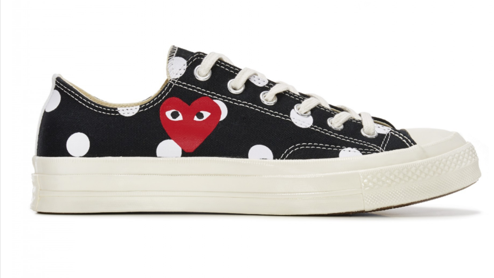 CONVERSE X COMME DES GARCONS POLKA DOT Chuck Taylor '70 Low Black shoes 4-11