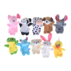 Preschool-Kids-Finger-Puppets-Funny-Plush-Dolls-Family-Story-Children-Baby-Gam-F