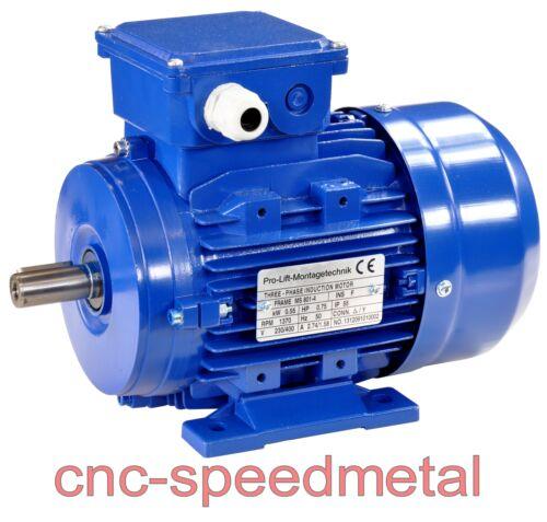 0,55kw motor eléctrico 380v 1370 umdr//min corriente giratoria b3-motor electric motor 01330