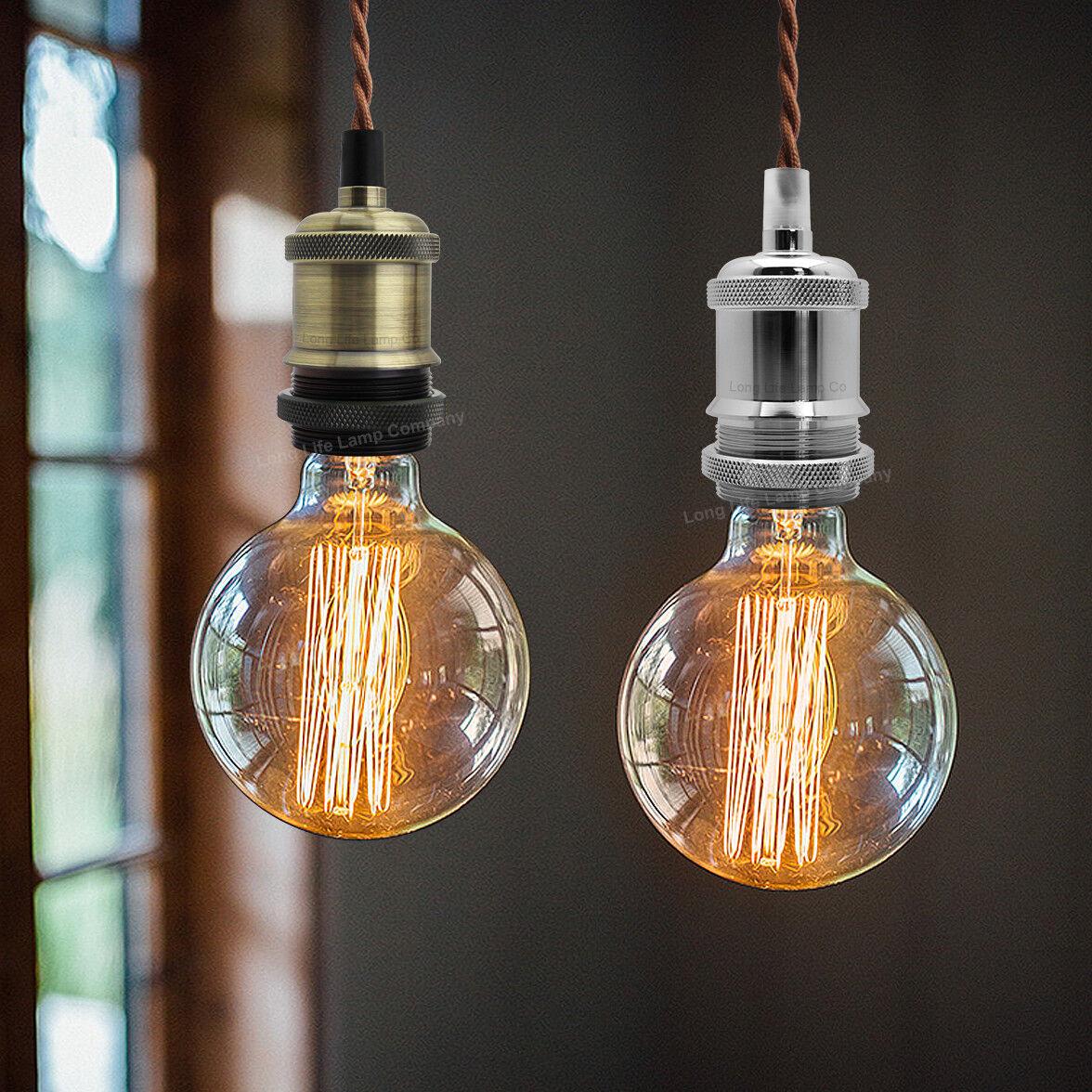 Ceiling Rose Fabric Flex Hanging Pendant Lamp Holder Light