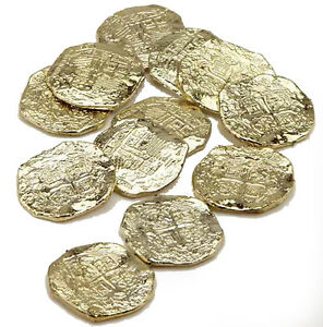 Details about Gold Doubloons Plastic Pirate Treasure Pirate Coins Pirate  Toy Money 22330