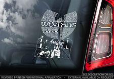 Wutang Clan - Car Window Sticker - Hip Hop Rap Music Wu Tang Rza Sign Art Gift