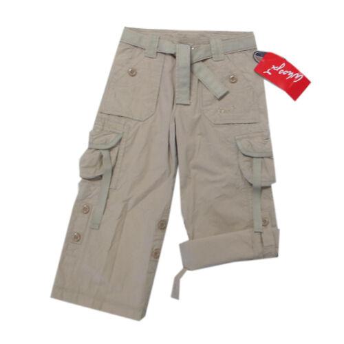 Whoopi Pantaloni Pantaloni Estate 7//8 Pantaloni cargo Pantaloni Con Cintura Ragazza Bianco TG 92,116