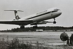 17062-Foto-AK-DDR-Interflug-Verkehrs-Flugzeug-IL-62-1974-PC-airliner-GdR
