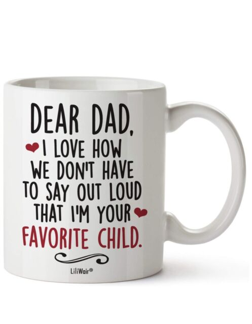 Fathers Day Gifts From Daughter Son Dad Fathers Birthday First Mug Gift Cool
